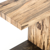 Hudson Spalted Wood and Iron C-Tables