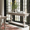 Belgian Cottage Balustrade Console Tables - Antiqued White