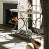 Belgian Cottage Tea Cart - Antiqued White