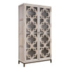 Belgian Cottage Glass Door Display Storage Cabinet - Antiqued White
