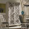 Belgian Cottage 2 Door Display Storage Cabinet - Antiqued White