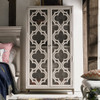 Belgian Cottage quatrefoil Display Storage Cabinet - Antiqued White