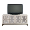 Belgian Cottage Mirrored TV Media Stand- Antiqued White