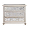 Belgian Cottage 3-Drawers Mirrored Chest - Antiqued White