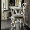 French Cottage Gray Velvet Upholstered Cabriole Side Chair
