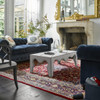 Belgian 3-Cushion Navy Velvet Tufted Chesterfield Sofas