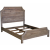 Amelie Solid Wood Queen Bed Frame - Vintage Taupe