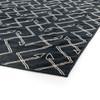Charcoal Tribal Dhurrie Geometric Pattern Area Rug