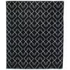 Charcoal Tribal Dhurrie Geometric Pattern Area Rugs