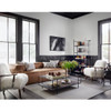 Ash Cream Mongolian Fur Accent Chairs