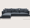 Soho Concept Simena Sectional Sofa  DARK GREY WOOL