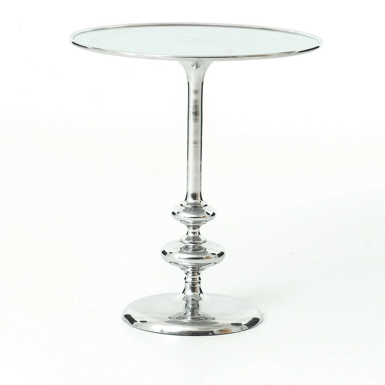 Marlow Aluminum Matchstick Pedestal Side Table