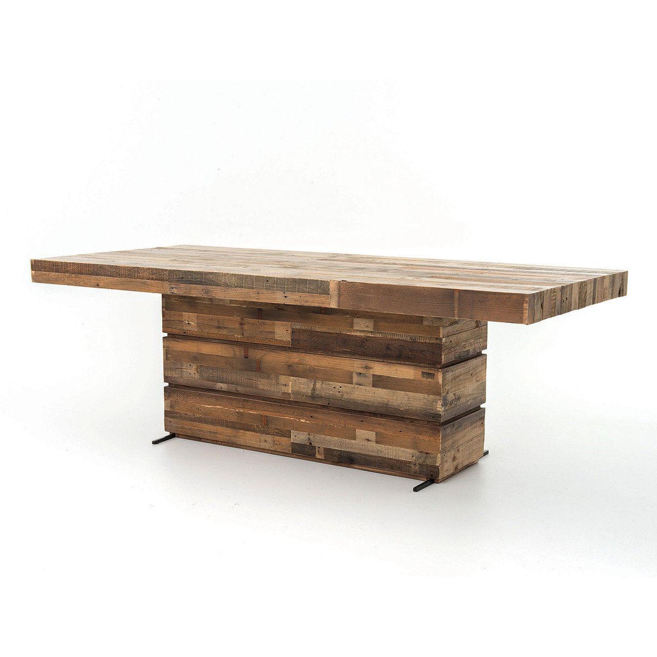 Angora Rustic Reclaimed Wood Dining Table Zin Home - 84 inch dining room table