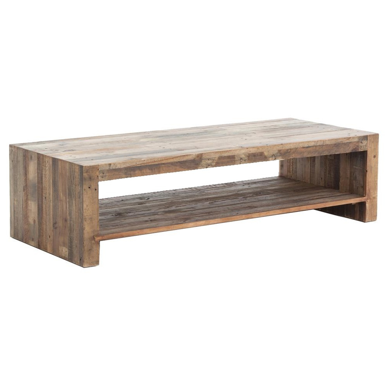 Modern Wood Coffee Table: Angora Rustic Modern Reclaimed Wood Coffee Table 60""