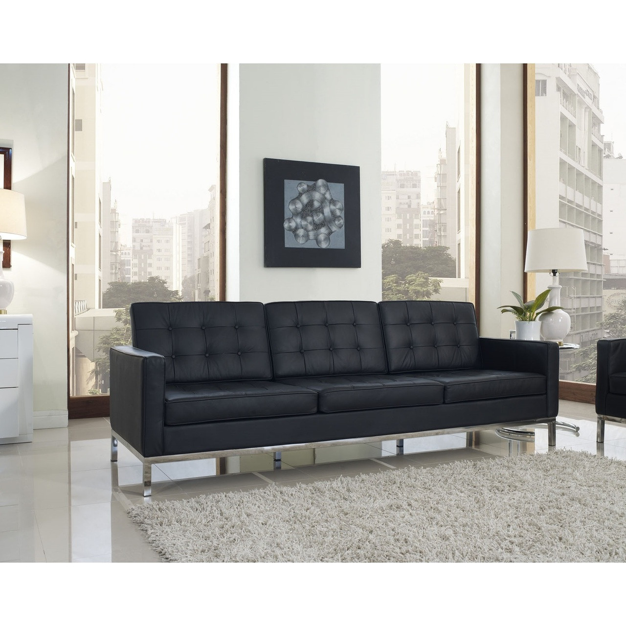 Ordinaire Florence Style Leather Loft Sofa