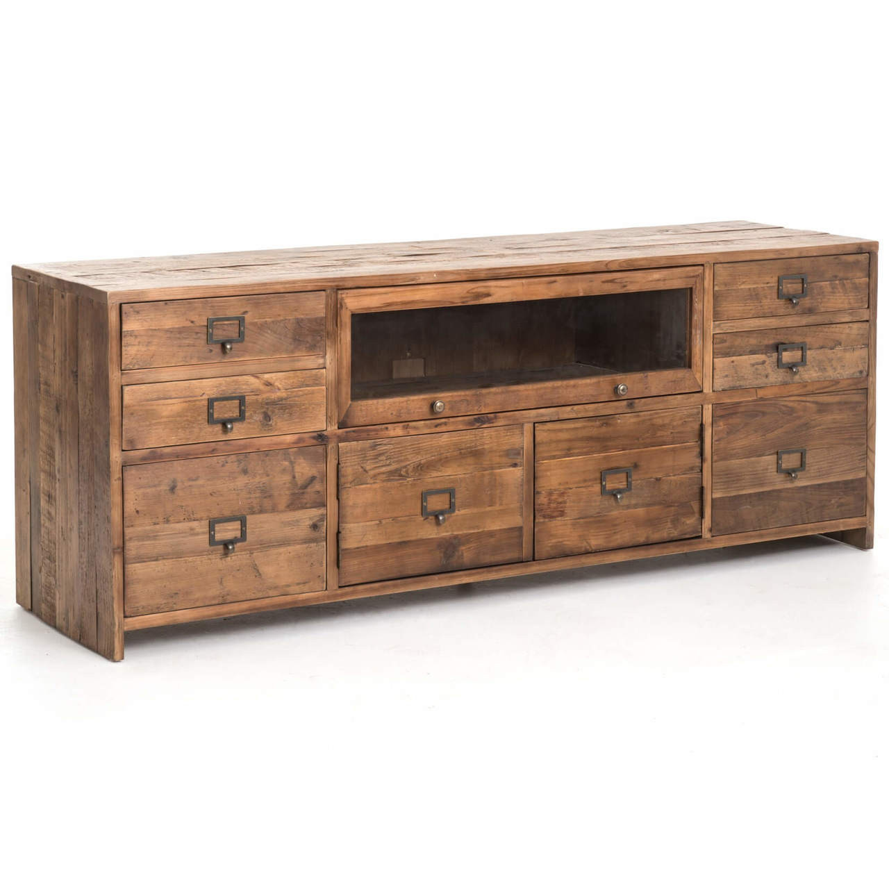 Charmant Hughes Reclaimed Pine Media Console. Reclaimed Wood Media Console Table