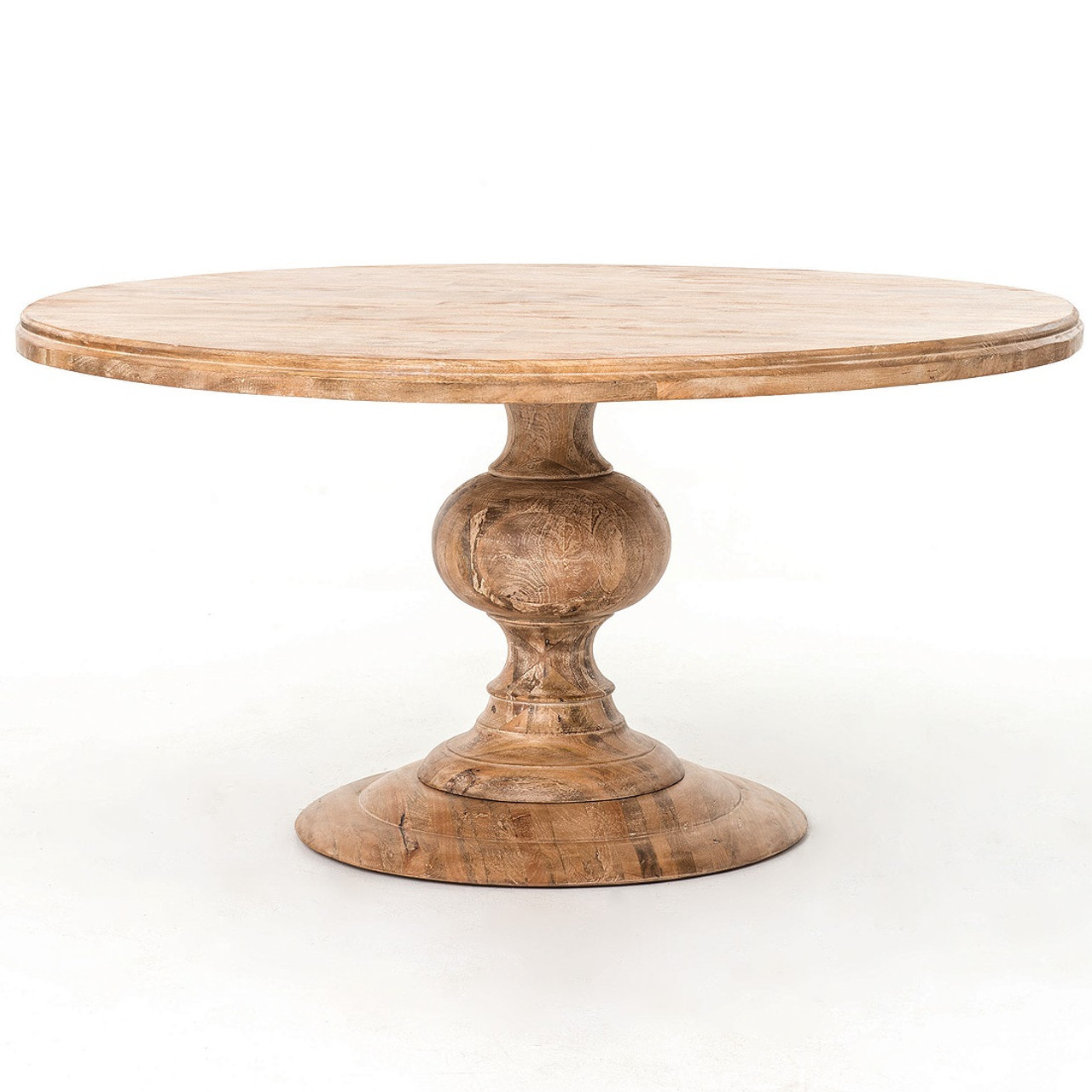 Round Pedestal Dining Table In Whitewash Wood Round Dining - 50 inch round pedestal table