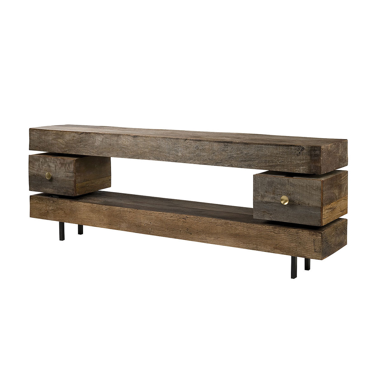 Charmant Dillon Reclaimed Wood Console Table