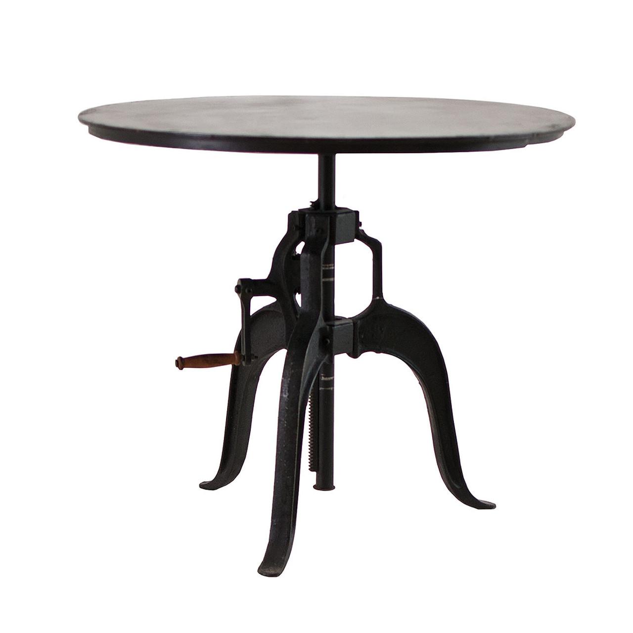 Adjustable Height Crank Dining Table 36   sc 1 st  Zin Home & Adjustable Height Crank Dining Table 36