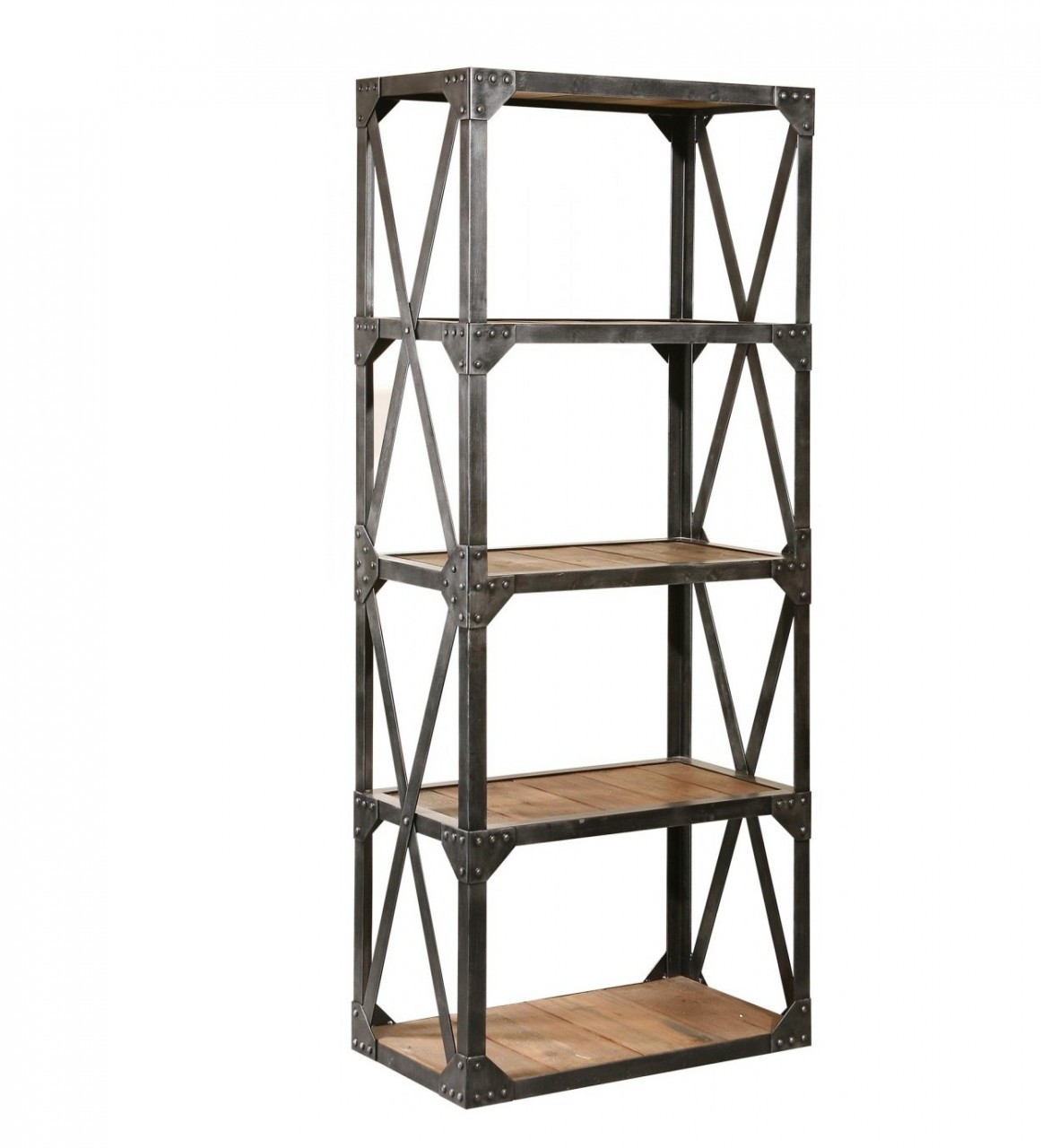 industrial reclaimed narrow bookcase - Reclaimed Wood Bookshelves