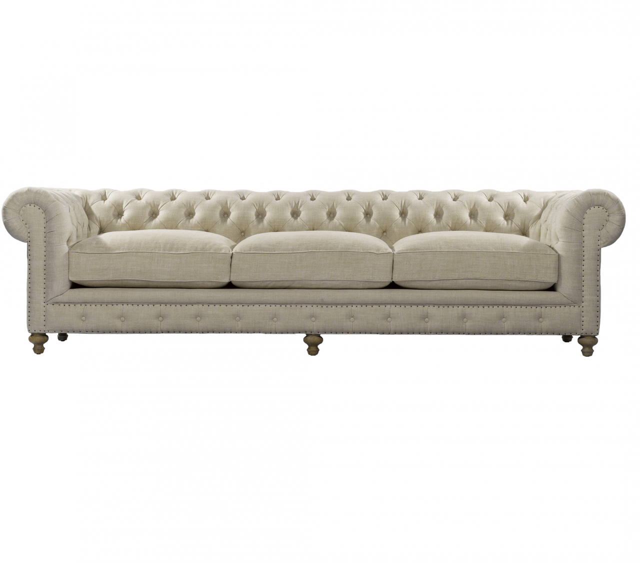 chesterfield cigar club tufted linen upholstered sofa 118 zin home rh zinhome com chesterfield sofa lincoln nebraska chesterfield sofa grey linen
