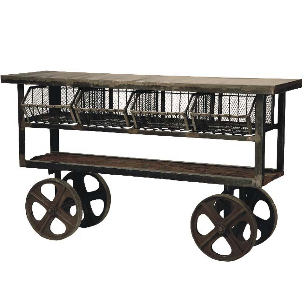 Industrial Kitchen Trolley: Industrial Rolling Kitchen Cart