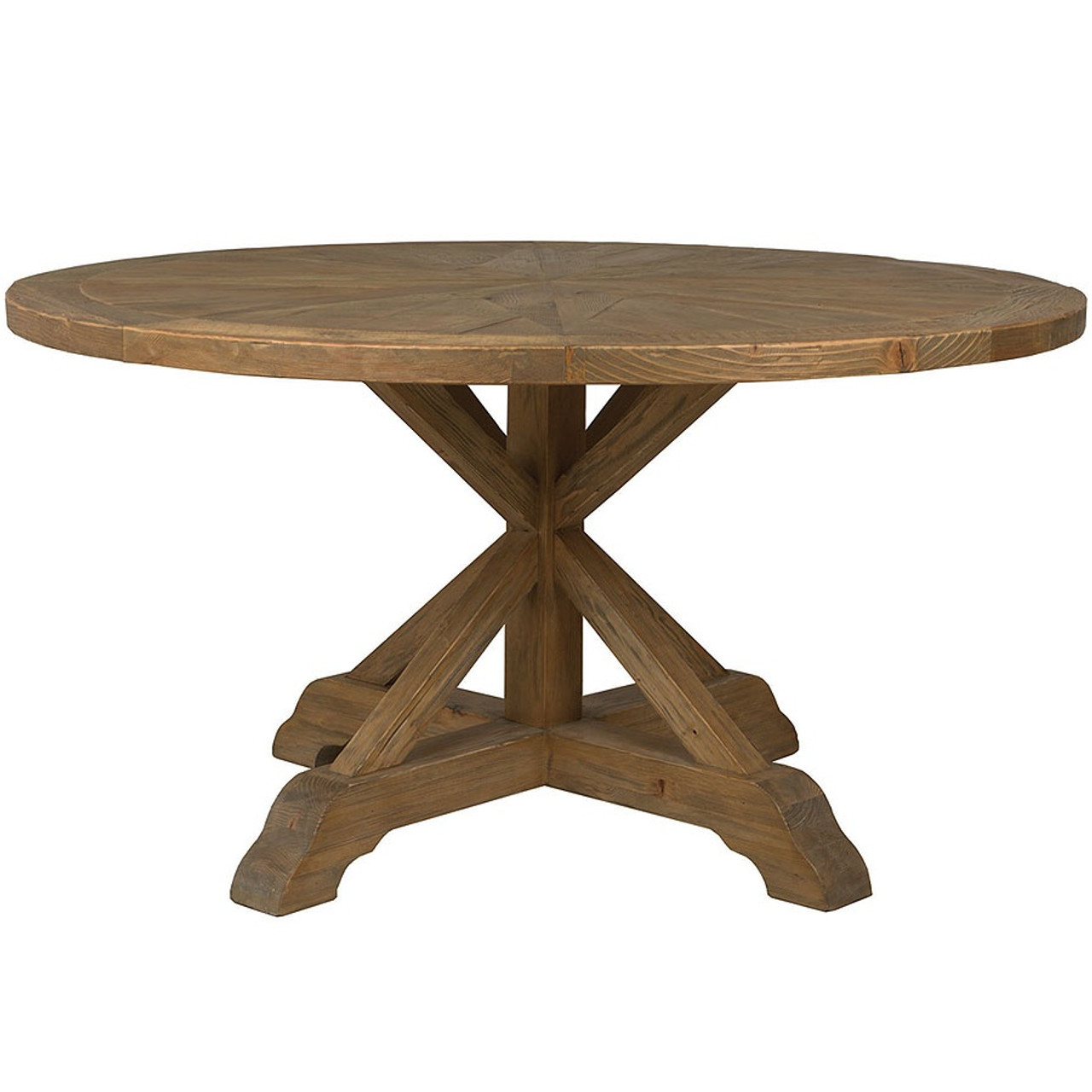 Opio reclaimed wood round dining table 60 zin home opio reclaimed wood round dining table workwithnaturefo