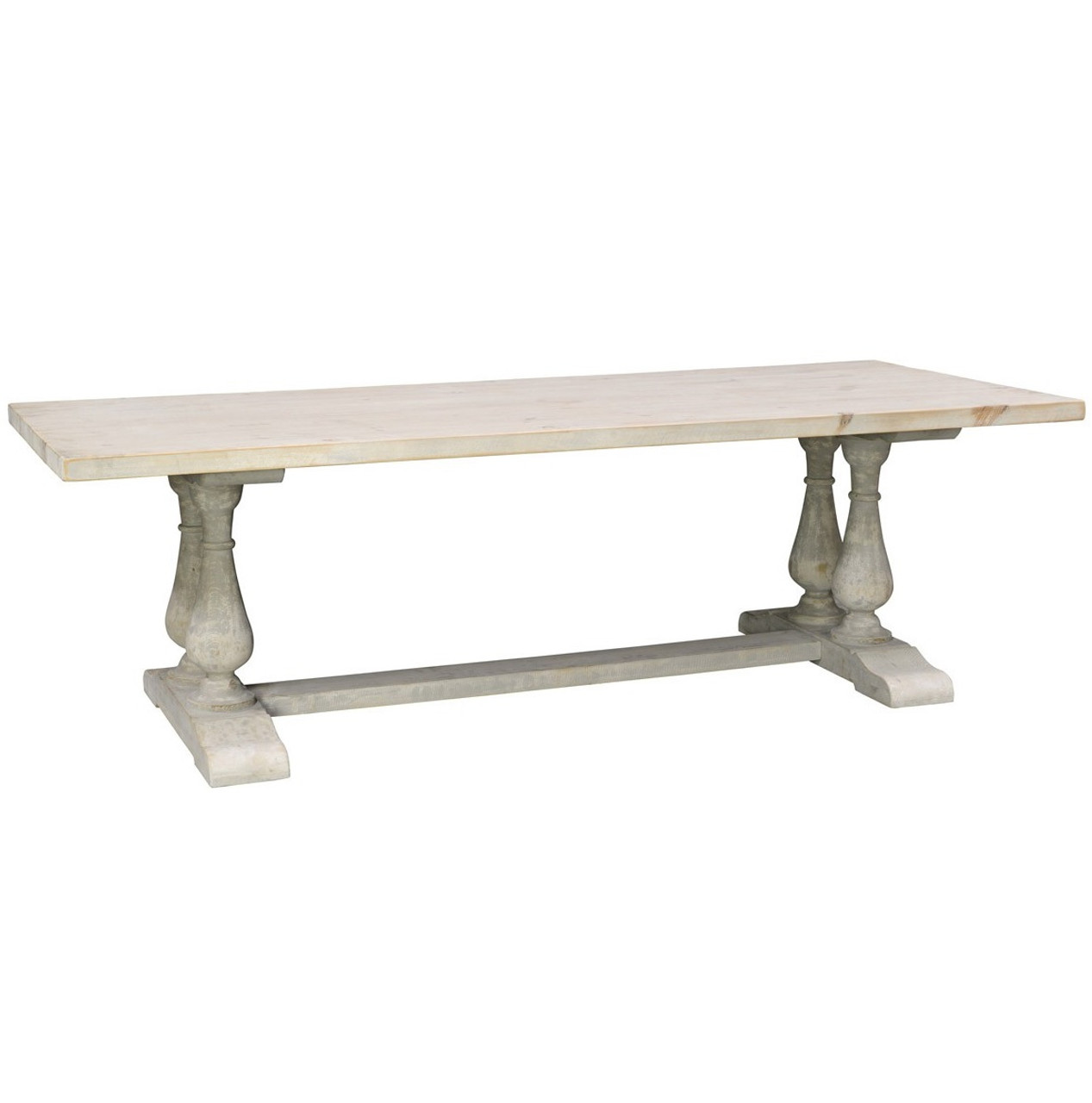 Chateau Reclaimed Wood Double Trestle Dining Table Zin Home - Double trestle dining table