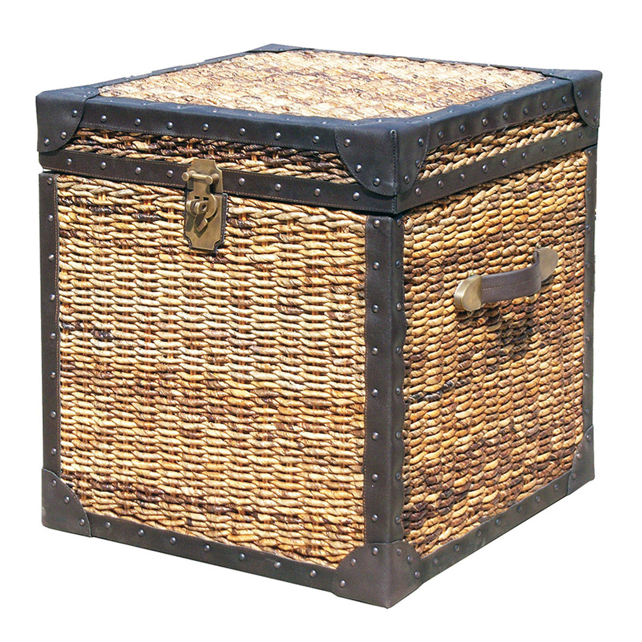 Seagrass Woven Trunk Side Table Lanai Trunk Side Table Zin Home - Woven trunk coffee table