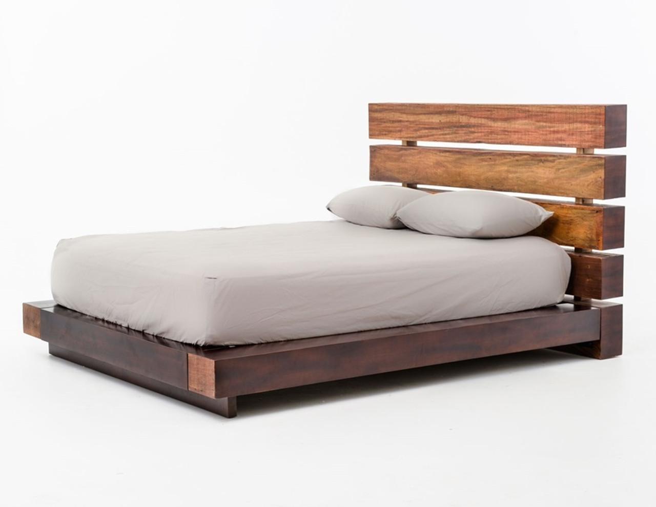 Bina Iggy Solid Wood Queen Platform Bed Frame | Zin Home