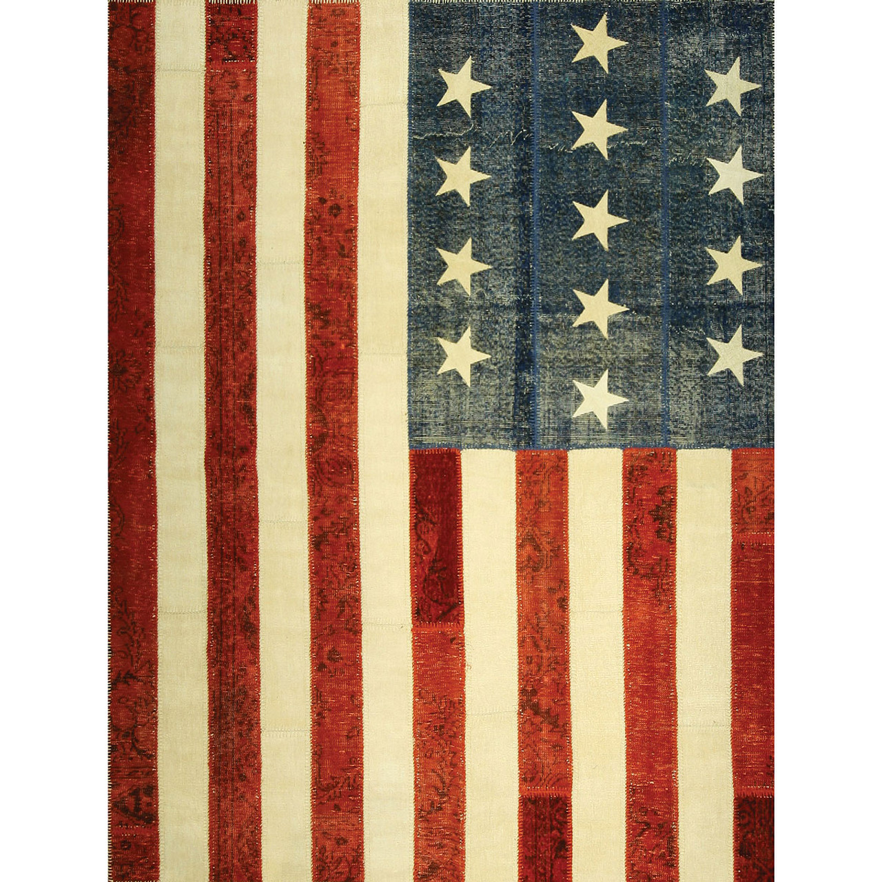 """""""American Flag"""" Patchwork Rugs"""