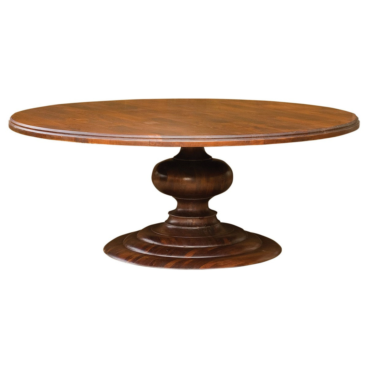 76 Large Round Pedestal Dining Room Table Zin Home