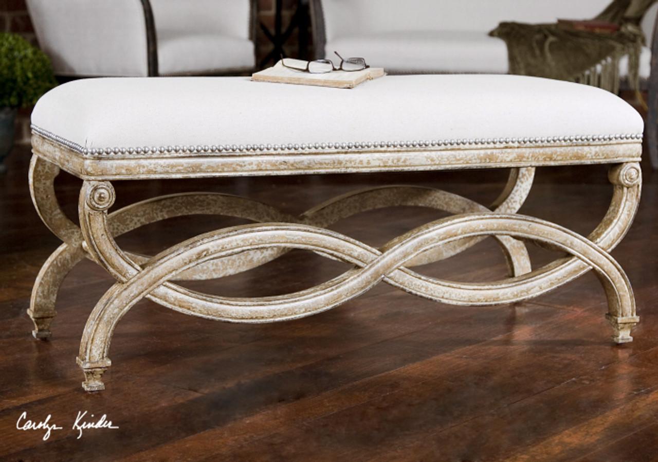Techstyle Patchwork Upholstered Bedroom Bench Reviews: Karline Linen Uplostered Bed End Bench
