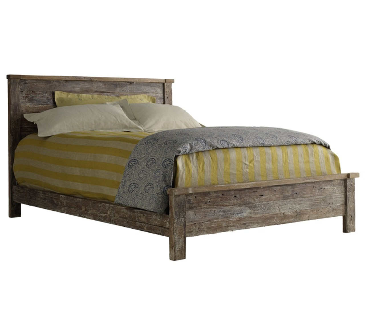 Hampton Rustic Teak Wood Queen Bed Frame Zin Home