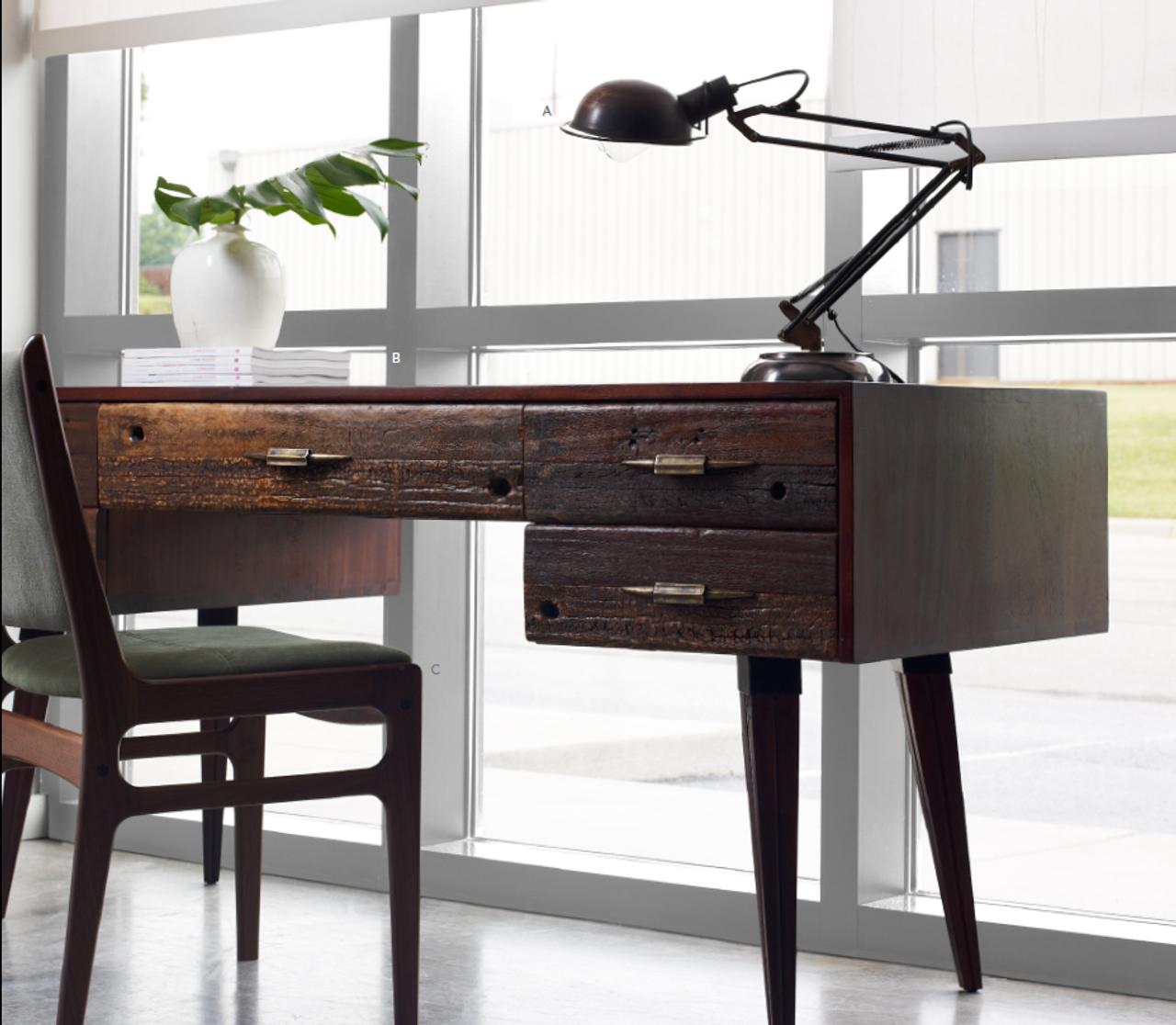 Bon Mitchell Rustic Wood Desk