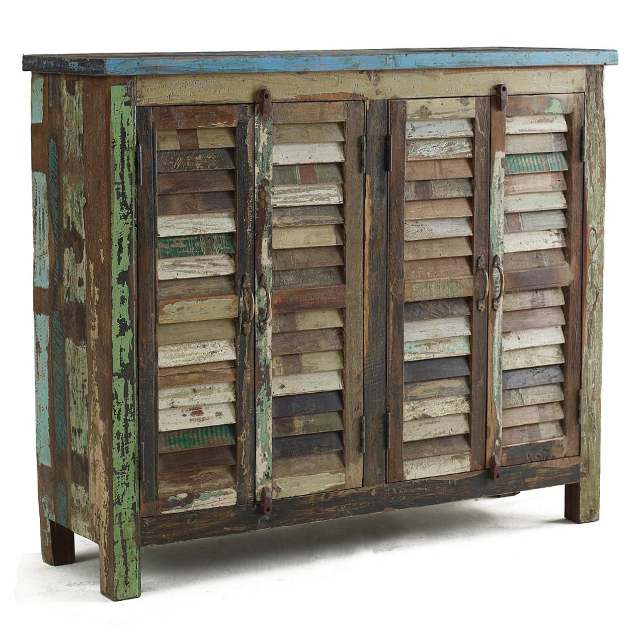 shabby chic sideboard cabinet zin home. Black Bedroom Furniture Sets. Home Design Ideas