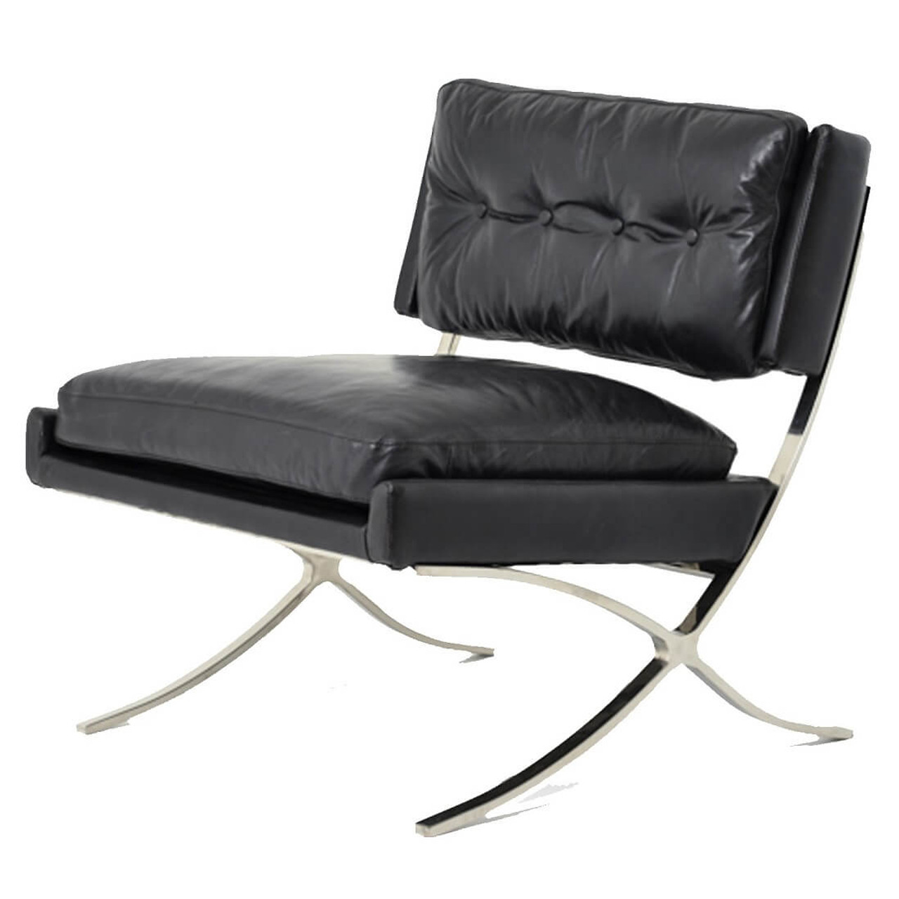 Ordinaire Heathrow Vintage Black Leather Lounge Chair