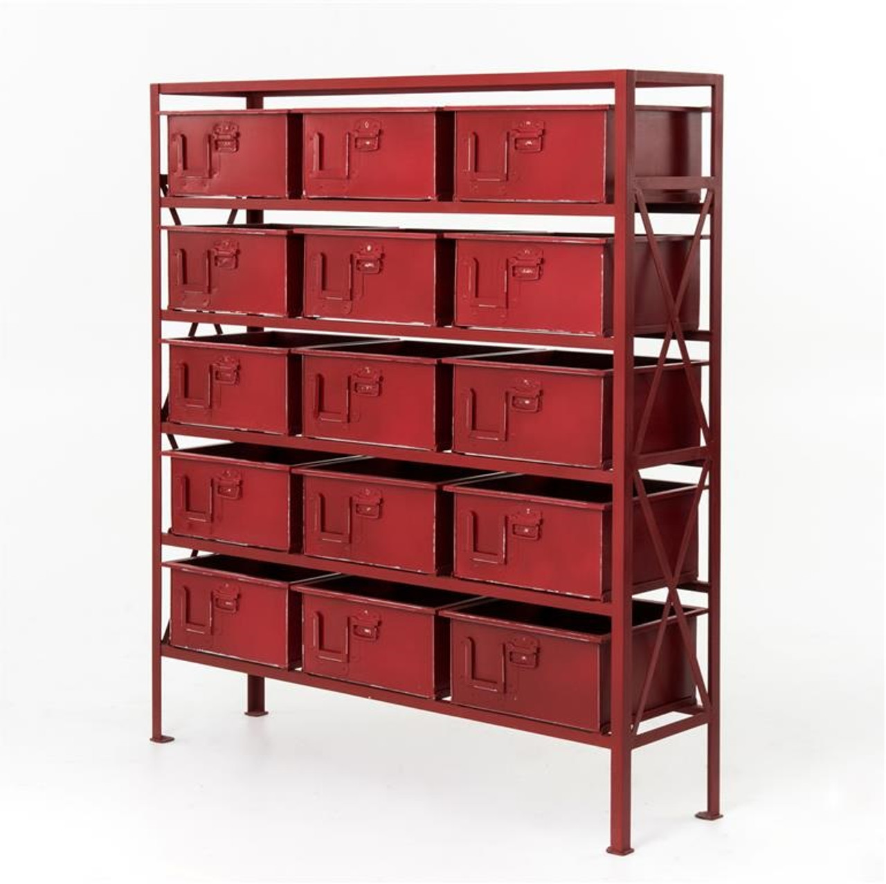 industrial chest drawer dresser rockwell home red zin dark