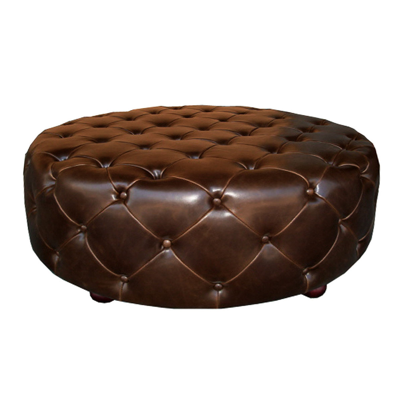 homepop ottoman with round tufted velvet product storage