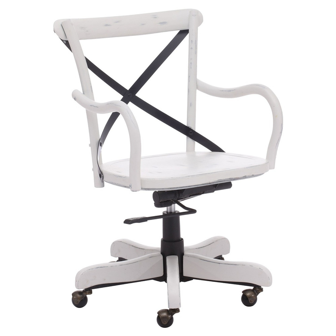 - Union Square Antique White Office Chair