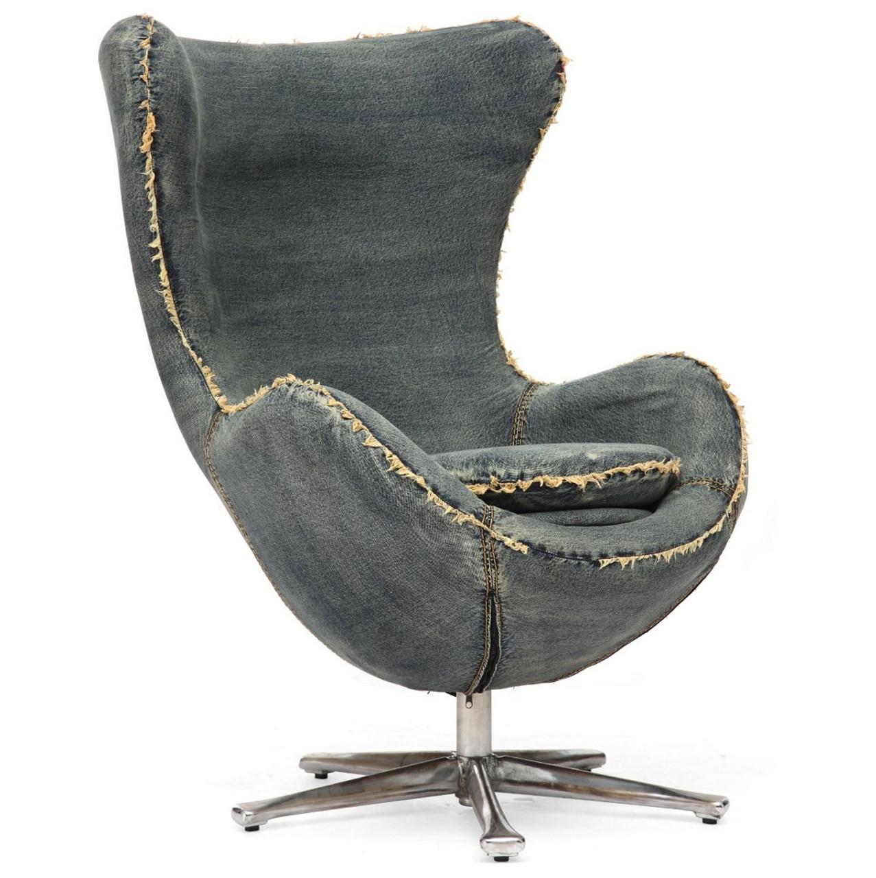 Collins Blue Denim Egg Arm Chair | Zin Home