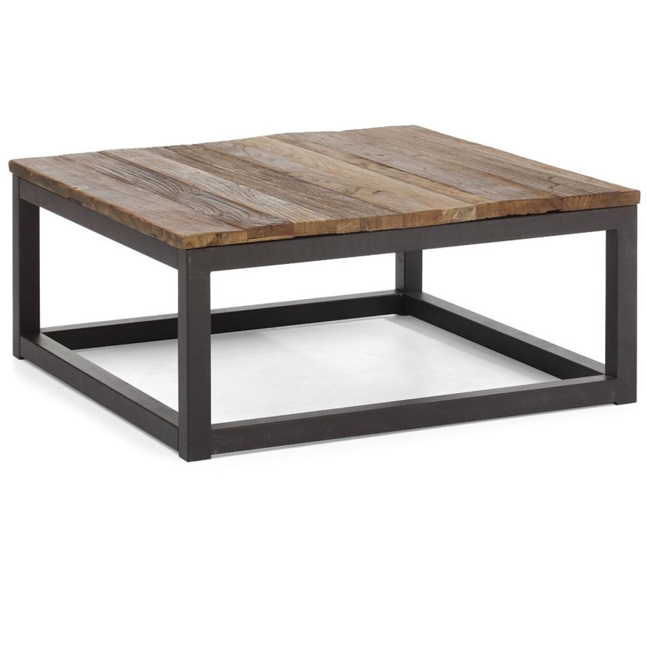 metal coffee table. Civic Wood And Metal Square Coffee Table E