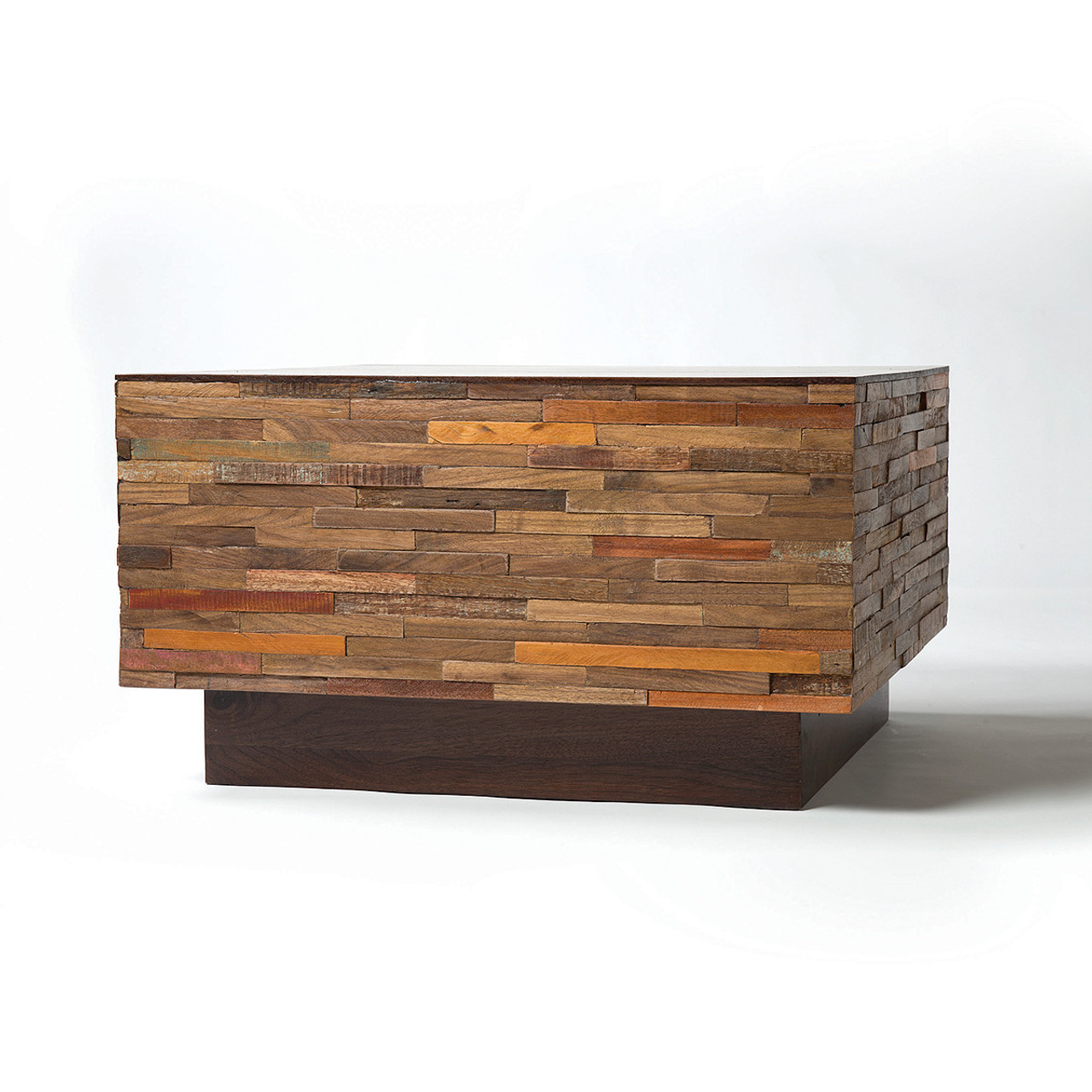 Landon Mixed Wood Square Coffee Table | Zin Home