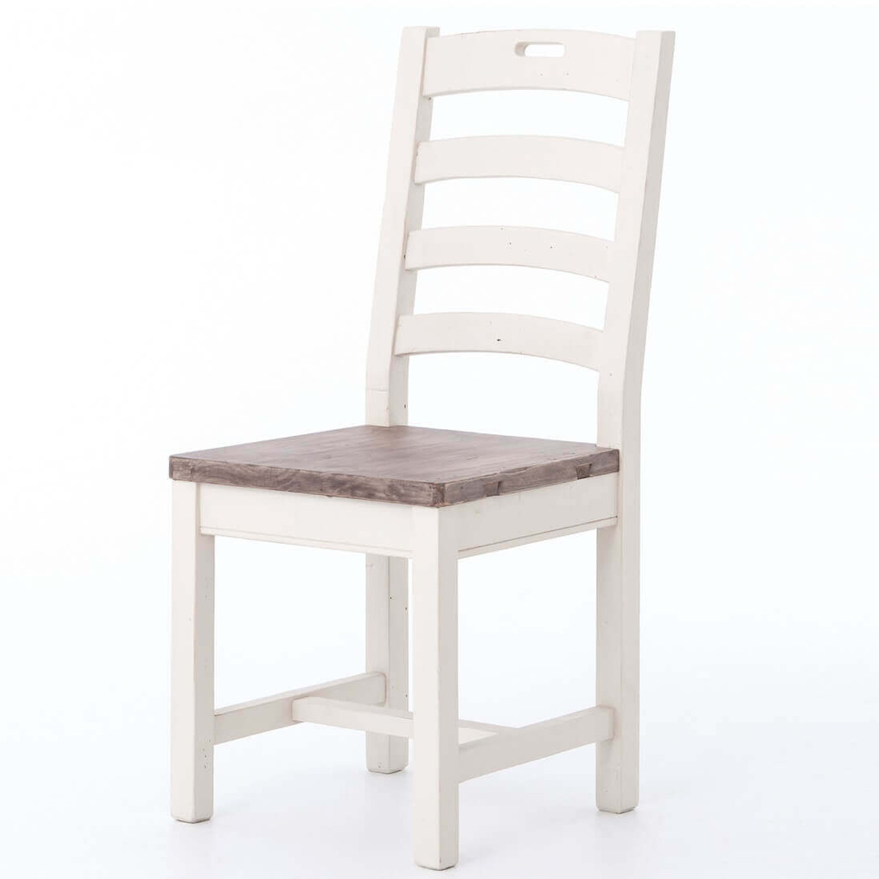 Cottage Ladder Back Dining Chair White