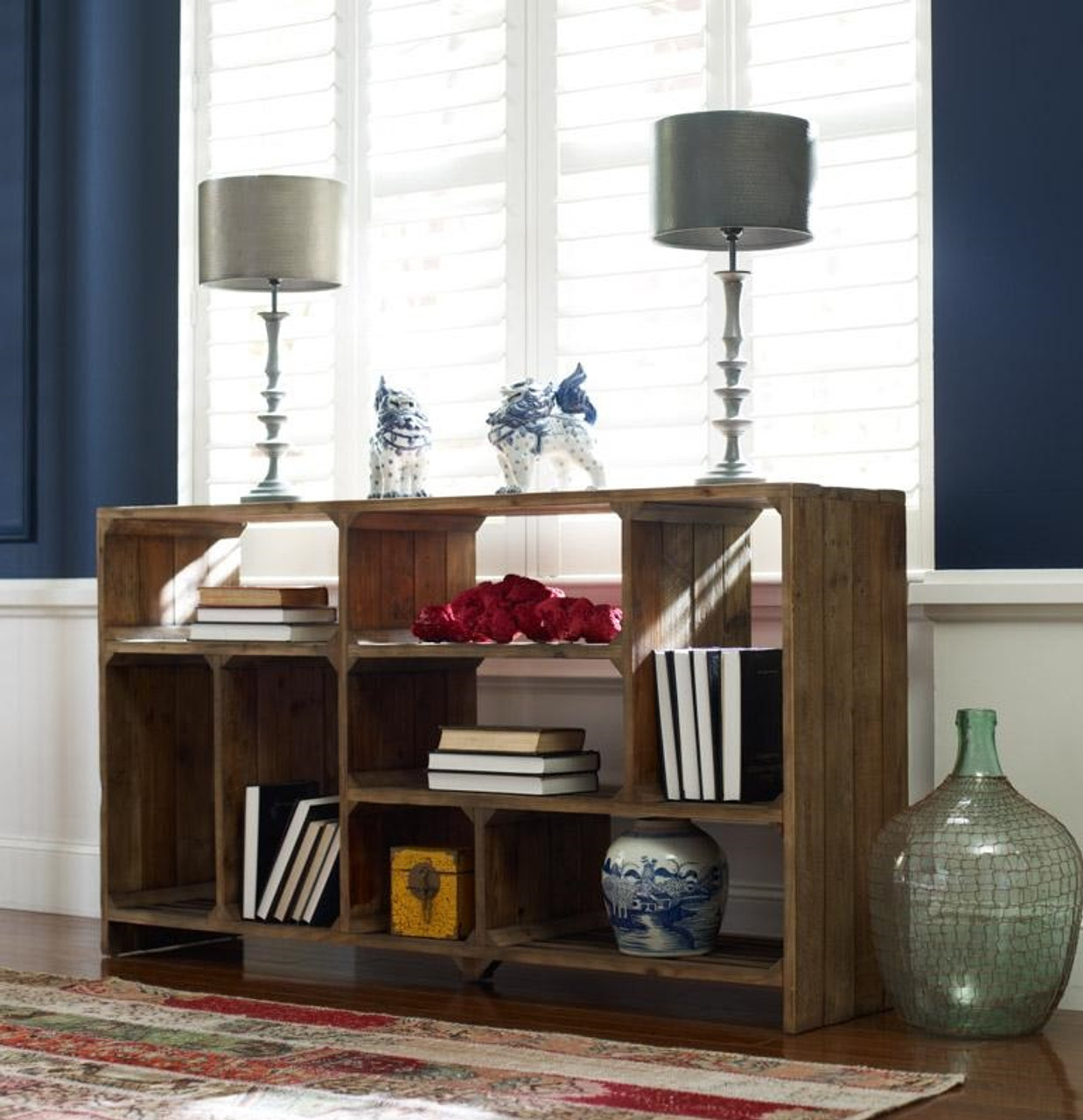 Rustic Wood Room Divider Console