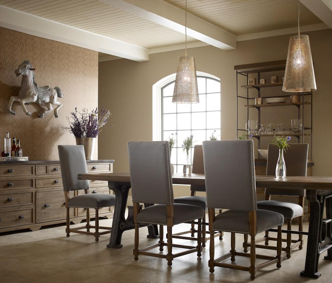"Barnwood Industrial Dining Room Table 86"" | Zin Home"