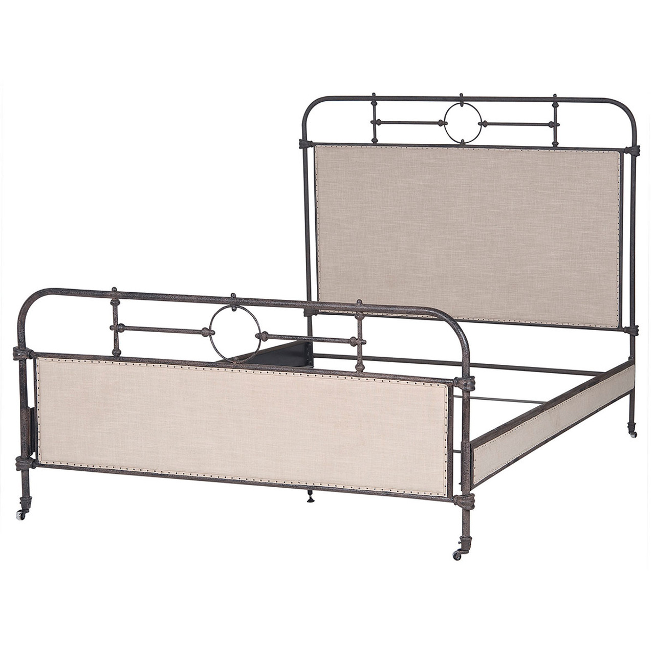 18th Century French Campaign Metal King Bed Frame | Zin Home