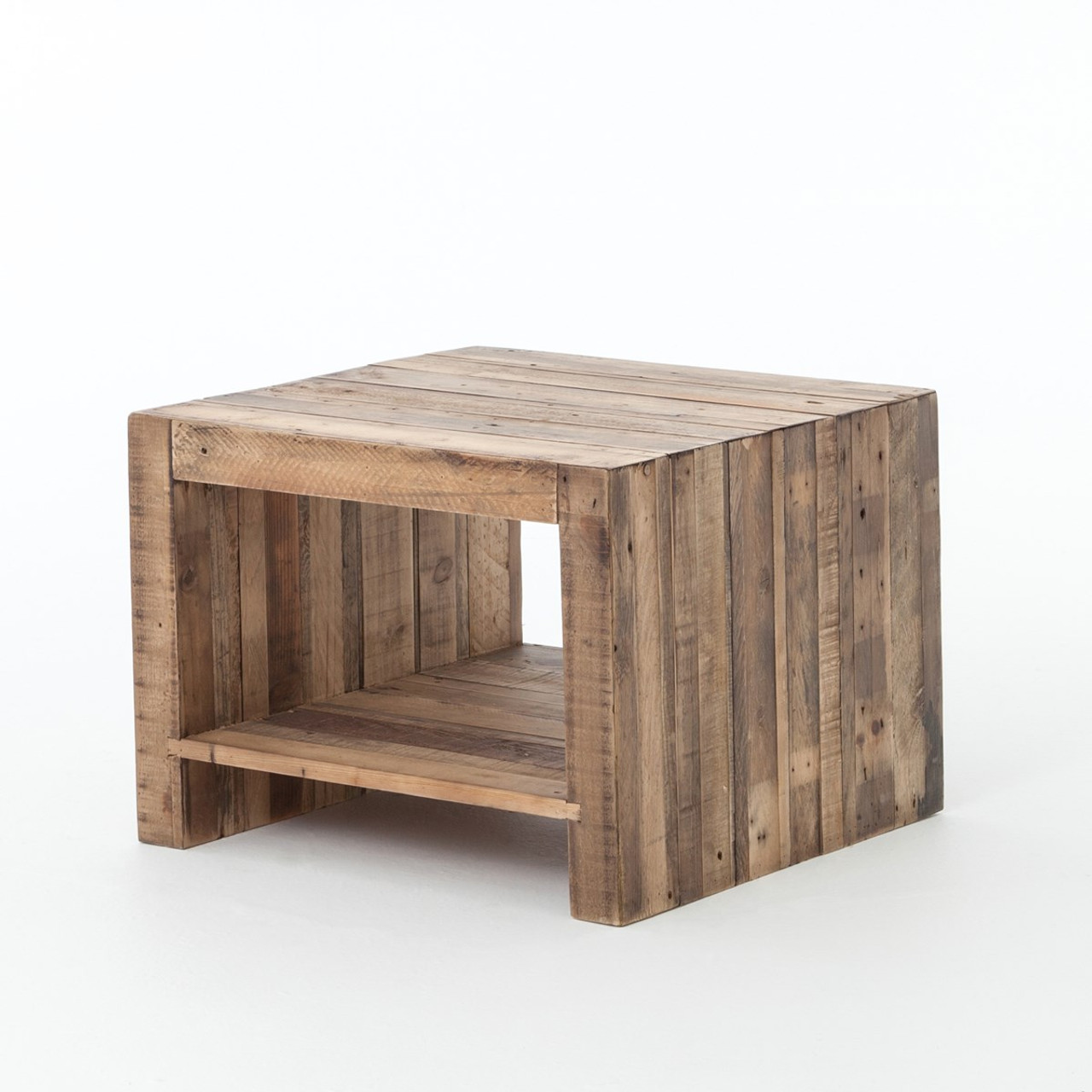 Incroyable Angora Reclaimed Wood Square End Table