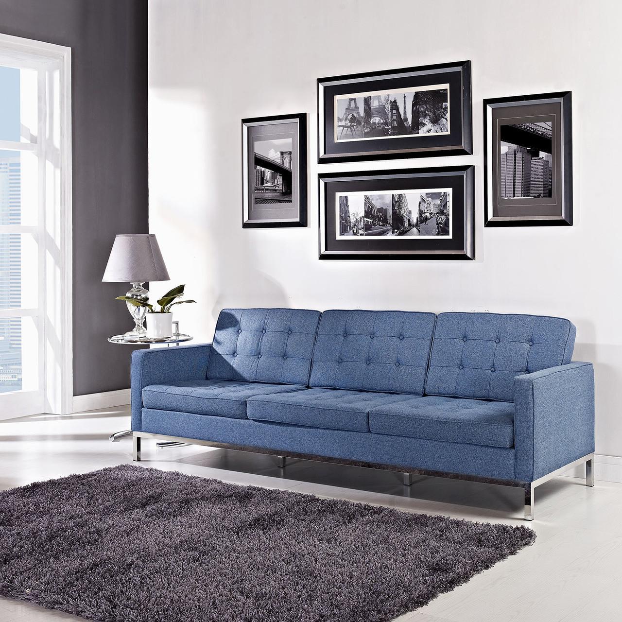 Superbe Florence Style Wool Loft Sofa