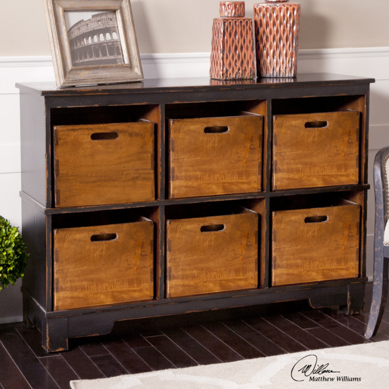 Merveilleux Ardusin Solid Wood 6 Cubby Storage